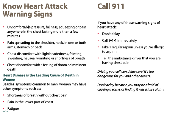 how to detect a heart attack early